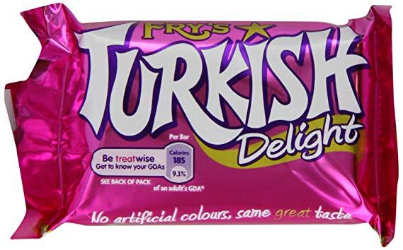 Fry's Turkish Delight 48x51g [Regular Stock], Cadbury, Chocolate Bar/Bag- HP Imports