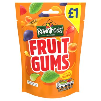 Rowntree's Fruit Gums Pouch (PM) 10x120g [Regular Stock], Rowntrees, Bagged Candy- HP Imports