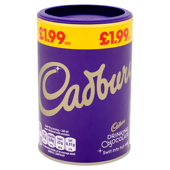 Cadbury Drinking Chocolate (PM) 6*250g [Regular Stock], Drinks, Cadbury, [variant_title],HP Imports British Wholesale Distribution