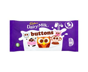 Cadbury Dairy Milk Buttons 5PK 16x70g [Regular Stock], Cadbury, Chocolate Bar/Bag- HP Imports