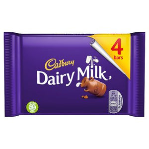 Cadbury Dairy Milk Chocolate Bar 4 Pack 14x117.2g [Regular Stock], Cadbury, Chocolate Bar/Bag- HP Imports