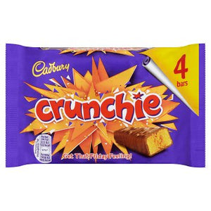 Cadbury Crunchie Chocolate Bar 4PK 10x104.4g [Regular Stock], Cadbury, Chocolate Bar/Bag- HP Imports