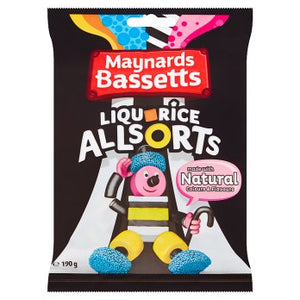 Maynards Bassetts Liquorice Allsorts Bags 12x190g [Regular Stock], Maynards Bassetts, Bagged Candy- HP Imports