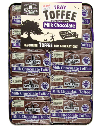 Walker's Andy Pack Belgian Milk Chocolate Covered Toffee 10x100g [Regular Stock], Walkers, Bagged Candy- HP Imports