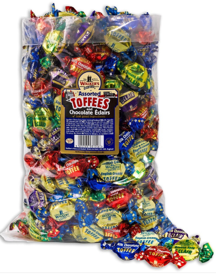 Walker's Assorted Toffee & Eclairs 2.5 kg [Regular Stock], Walkers, Bulk Candy- HP Imports
