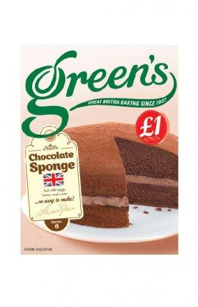 Green's Chocolate Sponge Mix (PM) 6x221g [Pre-Order Stock] {BEST BEFORE DATE: 2021-03-30}, Green's, Baking- HP Imports