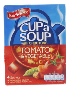 Batchelors Cup A Soup Tomato & Vegetable 4PK 9x104g [Regular Stock], Batchelors, Soups- HP Imports