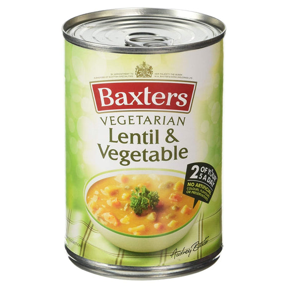Baxters Veggies Goodness Lentil & Vegetable Soup 12x400g [Regular Stock], Baxters, Soups- HP Imports