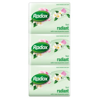 Radox Feel Radiant Bar Soap 16PK 3x125gm [Regular Stock]