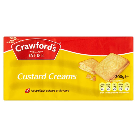 Crawford Custard Creams 12*150g [Regular Stock], Biscuits/Crackers, Crawford, [variant_title],HP Imports British Wholesale Distribution
