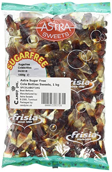 Astra Sugar Free Cola Bottles 3 kg [Regular Stock], Bulk Candy, Astra, [variant_title],HP Imports British Wholesale Distribution