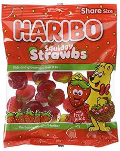 Haribo Squidgy Strawbs 12*140g [Pre-Order Stock], Bagged Candy, Haribo, [variant_title],HP Imports British Wholesale Distribution