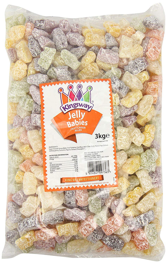 Kingsway Jelly Babies 3kg [Regular Stock], Kingsway, Bulk Candy- HP Imports