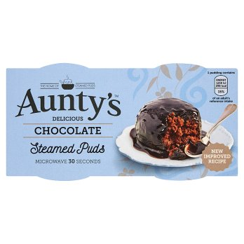 Aunty's Delicious Chocolate Steamed Puds 6*2*95g [Regular Stock], Desserts, Aunty's, [variant_title],HP Imports British Wholesale Distribution