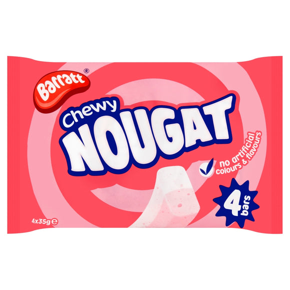 Barratt Nougat Bars 4PK 12x140g [Regular Stock], Barratt, Bagged Candy- HP Imports