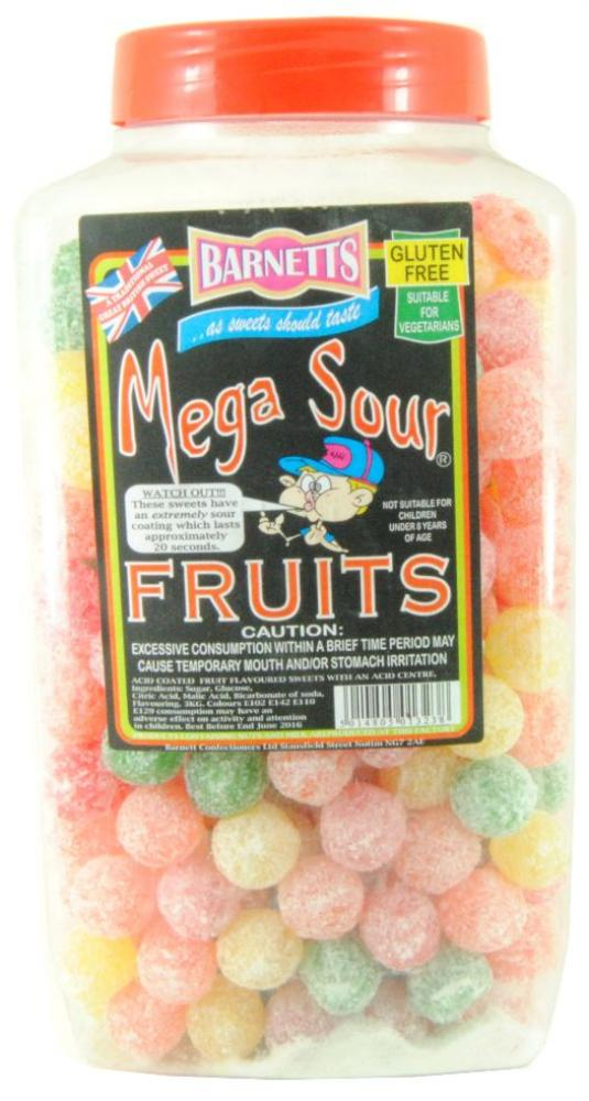 Barnetts Mega Sour Fruits 3kg [Regular Stock], Mega Sour, Bulk Candy- HP Imports