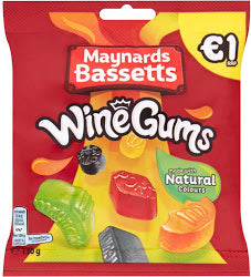 Maynards Bassetts Wine Gums Bags (PM) 12x130g [Pre-Order Stock], Maynards Bassetts, Bagged Candy- HP Imports