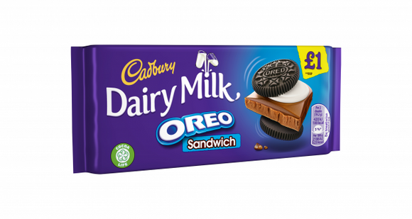 Cadbury Dairy Milk Oreo Sandwich (PM) 15x96g [Pre-Order Stock], Cadbury, Chocolate Bar/Bag- HP Imports