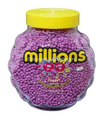 Millions Cherry Jar 2.2kg [Regular Stock], Millions, Bulk Candy- HP Imports