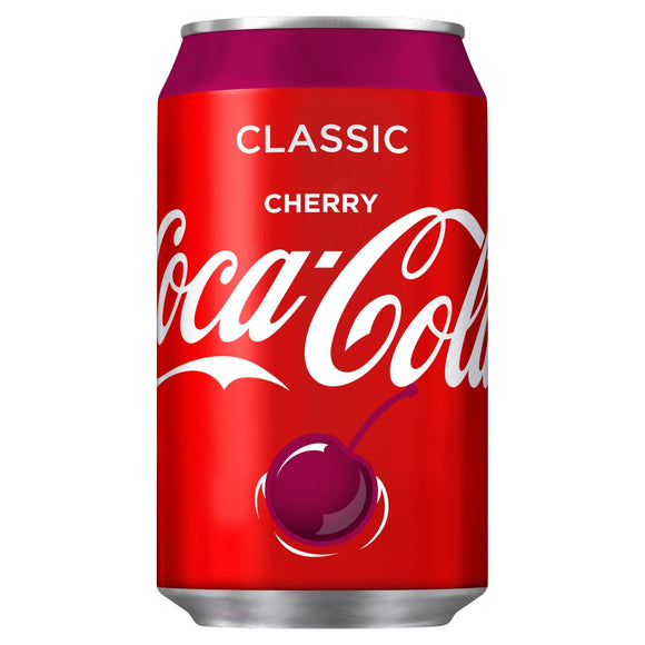 Coca-Cola Cherry Coke Cans (PM) 24*330ml [Regular Stock], Pop Cans, Coca-Cola, [variant_title],HP Imports British Wholesale Distribution