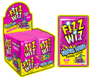 Fizz Wizz Popping Candy Cherry (50's) [Regular Stock], Fizz Wizz, Bagged Candy- HP Imports
