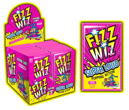Fizz Wizz Popping Candy - Cherry (50s) [Regular Stock], Bagged Candy, Fizz Wizz, [variant_title],HP Imports British Wholesale Distribution