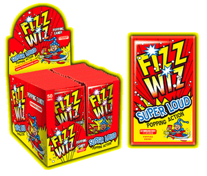 Fizz Wizz Popping Candy Strawb (50's) [Regular Stock], Fizz Wizz, Bagged Candy- HP Imports