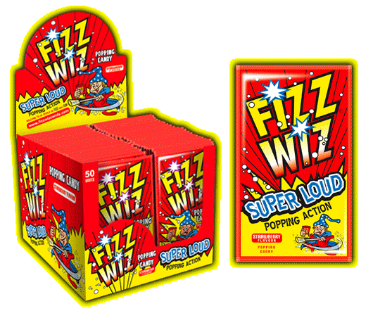 Fizz Wizz Popping Candy - Strawb (50s) [Regular Stock], Bagged Candy, Fizz Wizz, [variant_title],HP Imports British Wholesale Distribution