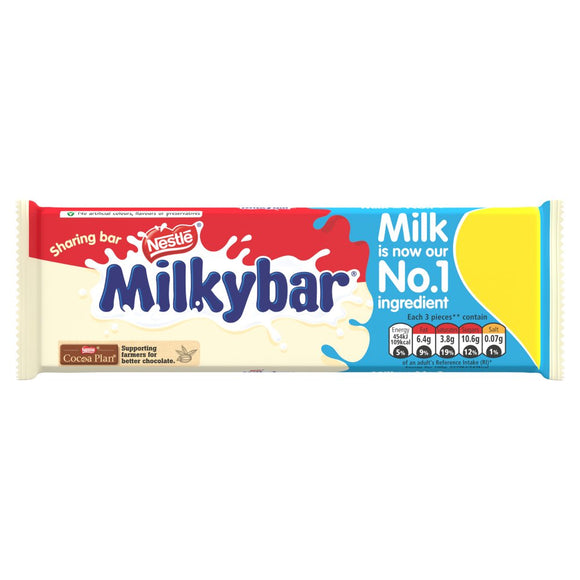Nestle Milkybar Block (PM) 12x100g [Regular Stock], Nestle, Chocolate Bar/Bag- HP Imports