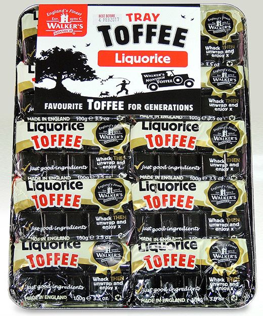 Walker's Andy Pack Liquorice Toffee 10x100g [Regular Stock], Walkers, Bagged Candy- HP Imports