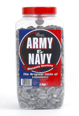 Army & Navy Liquorice Tablets Jar 3kg [Pre-Order Stock], Army & Navy, Bulk Candy- HP Imports