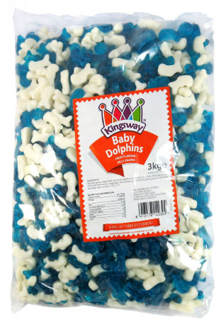 *Kingsway Baby Dolphins 3kg [Regular Stock], Bulk Candy, Kingsway, [variant_title],HP Imports British Wholesale Distribution