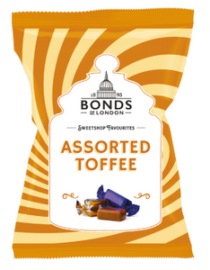 Bonds Assorted Toffee Share Bags 12x150g [Regular Stock], Bonds, Bagged Candy- HP Imports