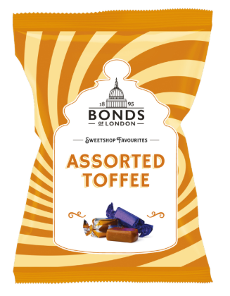 Bonds Assorted Toffee Share Bags 12x150g [Pre-Order Stock], Bonds, Bagged Candy- HP Imports