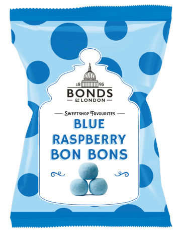 Bonds Blue Raspberry Bonbons 12*150g [Regular Stock], Bagged Candy, Bonds, [variant_title],HP Imports British Wholesale Distribution