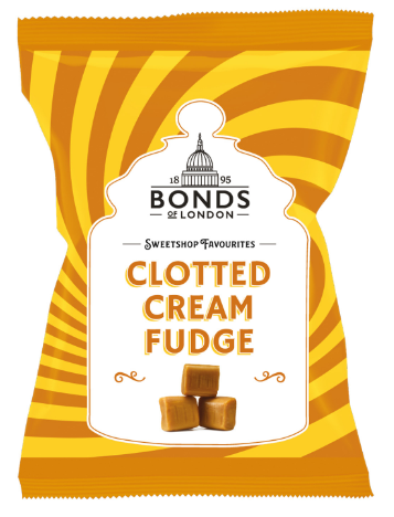 Bonds Clotted Cream Fudge Share Bags 12x150g [Regular Stock], Bonds, Bagged Candy- HP Imports
