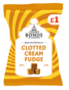 Bonds Clotted Cream Fudge (PM) Share Bags 12x150g [Regular Stock], Bonds, Bagged Candy- HP Imports