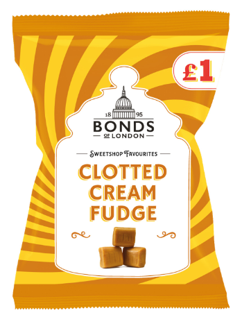 Bonds Clotted Cream Fudge (PM) 12*150g [Regular Stock], Bagged Candy, Bonds, [variant_title],HP Imports British Wholesale Distribution