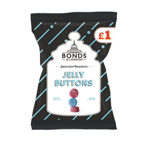 Bonds Jelly Buttons (PM) 12*150g [Regular Stock], Bagged Candy, Bonds, [variant_title],HP Imports British Wholesale Distribution