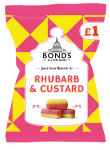 Bonds Rhubarb & Custard (PM) Share Bags 12x150g [Regular Stock], Bonds, Bagged Candy- HP Imports