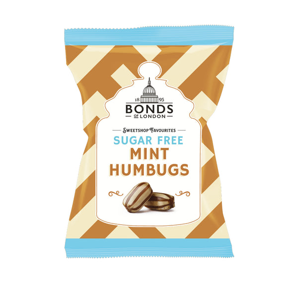 Bonds Sugar Free Mint Humbugs 12*100g [Regular Stock], Bagged Candy, Bonds, [variant_title],HP Imports British Wholesale Distribution