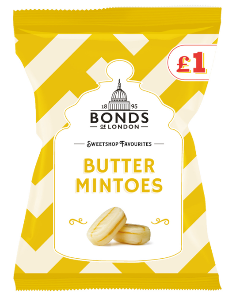 Bonds Butter Mintoes (PM) Share Bags 12x150g [Pre-Order Stock], Bonds, Bagged Candy- HP Imports