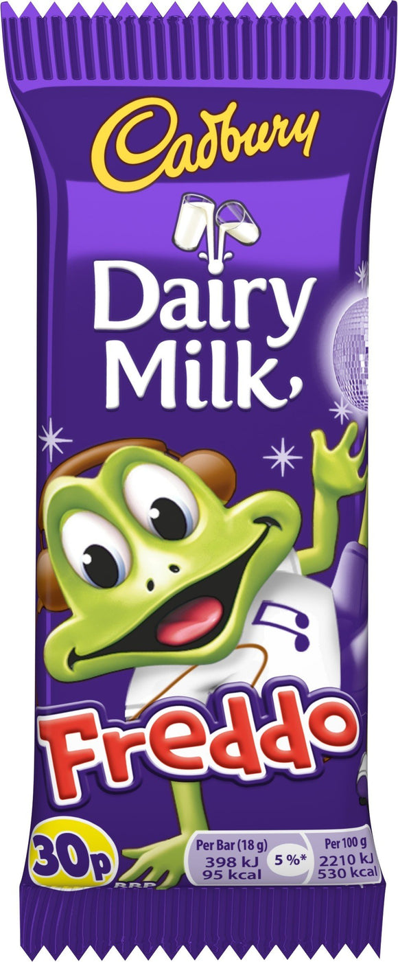 Cadbury Freddo Frogs Original (PM) 60x18g [Regular Stock], Cadbury, Chocolate Bar/Bag- HP Imports