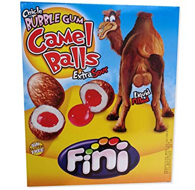 Fini Bubble Gum Camel Balls 200s Extra Sour [Regular Stock], Bagged Candy, Fini, [variant_title],HP Imports British Wholesale Distribution