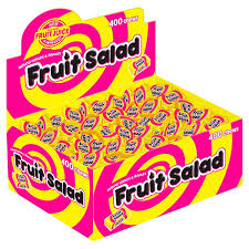 Barratt Fruit Salad Chews (400's) [Regular Stock], Candyland, Bagged Candy- HP Imports