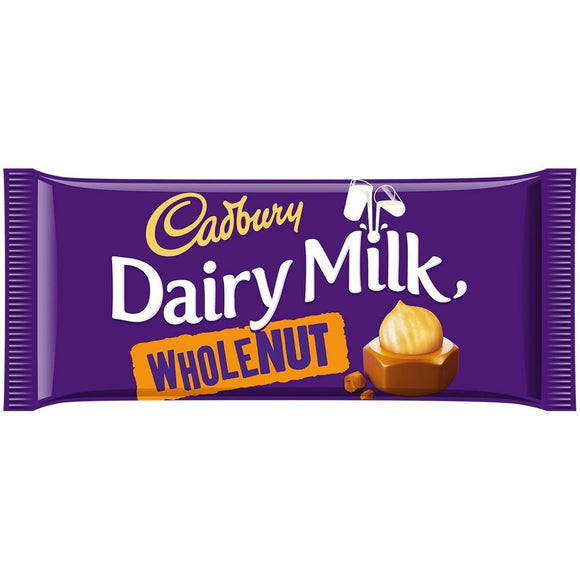 Cadbury Dairy Milk Wholenut 14x200g [Regular Stock], Cadbury, Chocolate Bar/Bag- HP Imports