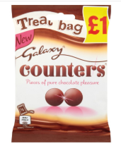 Mars Galaxy Counters Buttons (PM) 20x78g [Regular Stock], Mars, Chocolate Bar/Bag- HP Imports