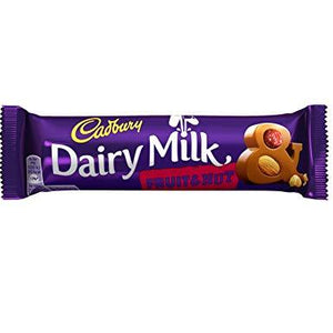 Cadbury Dairy Milk Fruit & Nut 48x49g [Regular Stock], Cadbury, Chocolate Bar/Bag- HP Imports