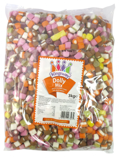 Kingsway Dolly Mix 3kg [Regular Stock], Kingsway, Bulk Candy- HP Imports