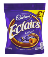 Cadbury Chocolate Eclairs (PM) 12x130g (PM) [Regular Stock], Cadbury, Chocolate Bar/Bag- HP Imports